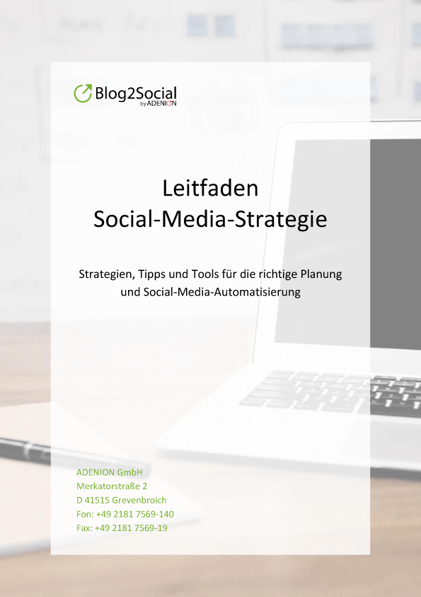 Leitfaden: Social-Media-Strategie