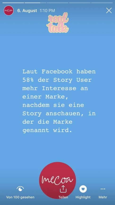 Facebook Studie zu Instagram Stories