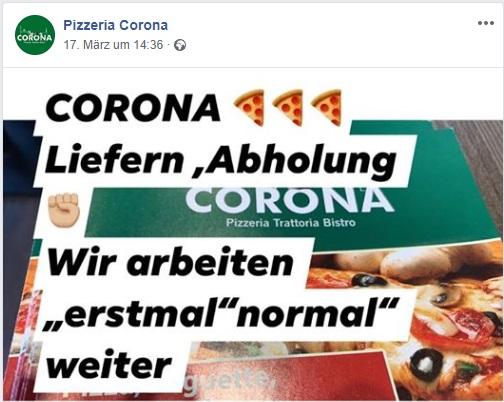 Corona Pizzeria_Wir haben weiterhin geöffnet