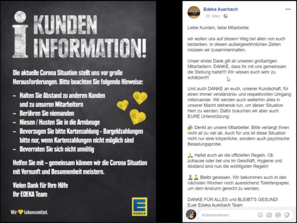 Edeka Auerbach sagt Danke an Kunden und Mitarbeiter