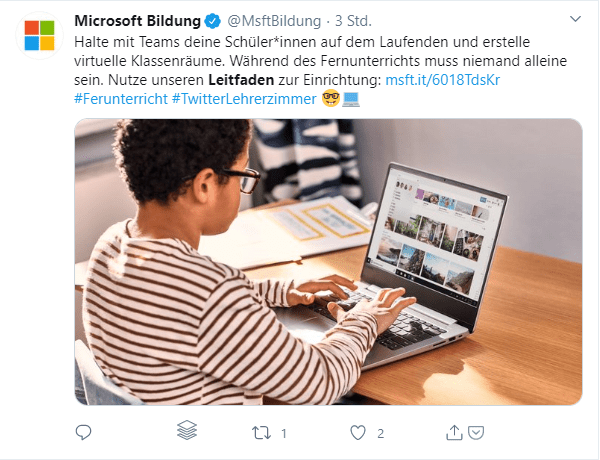 Microsoft Leitfaden virtuelle Klassenräume