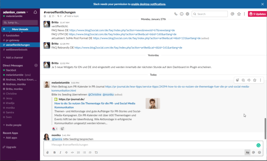 Essentielle Tools und Plugins -Slack für Remote Work und Team Chats