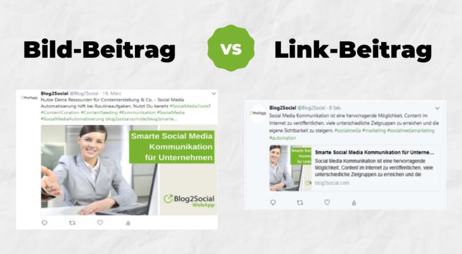 Bild-Beitrag vs. Link-Beitrag