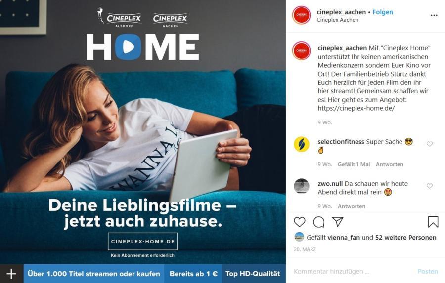 Cineplex Home - Kino zu Hause ansehen