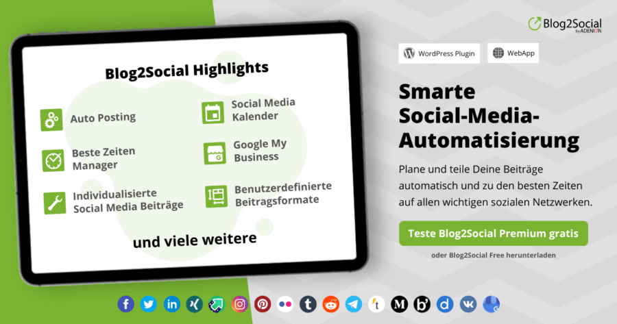 Blog2Social Highlights