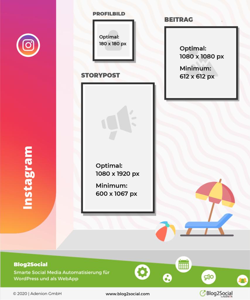 Die optimale Bildgröße für Posts auf Instagram