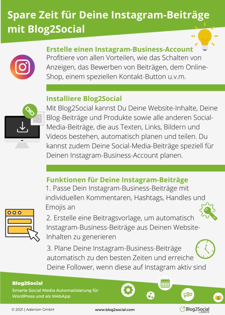 Spare Zeit für Deine Instagram-Beiträge mit Blog2Social