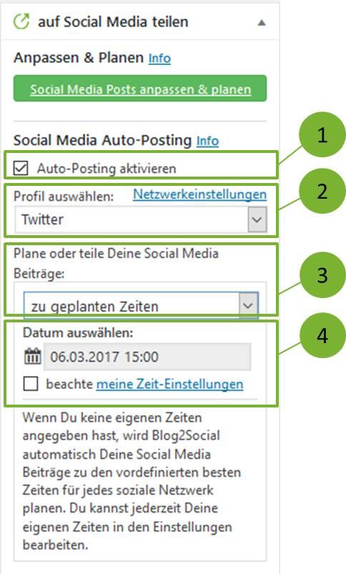 Wie kann ich meine Blogbeiträge automatisiert und zeitgesteuert auf Social Media planen (Social Media Auto-Poster)?