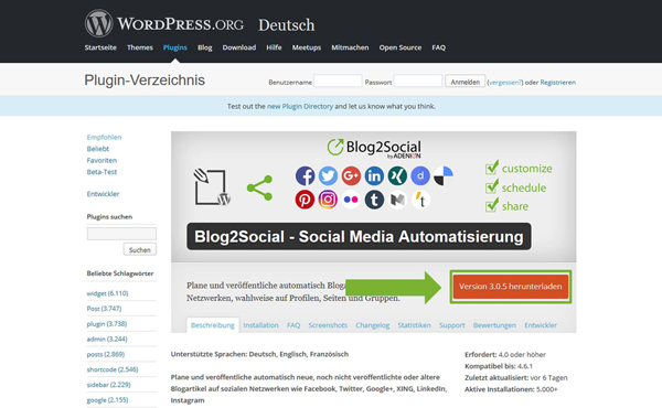 Download Blog2Social Wordpres.org