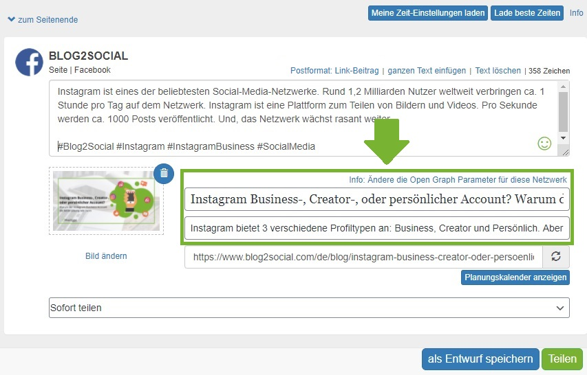 Blog2Social-og-tags-aendern