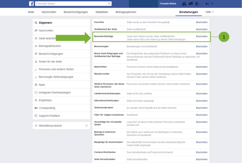 Beiträge auf Facebook Seite veröffentlichen - Schritt 2