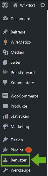 WordPress-Dashboard-Benutzer