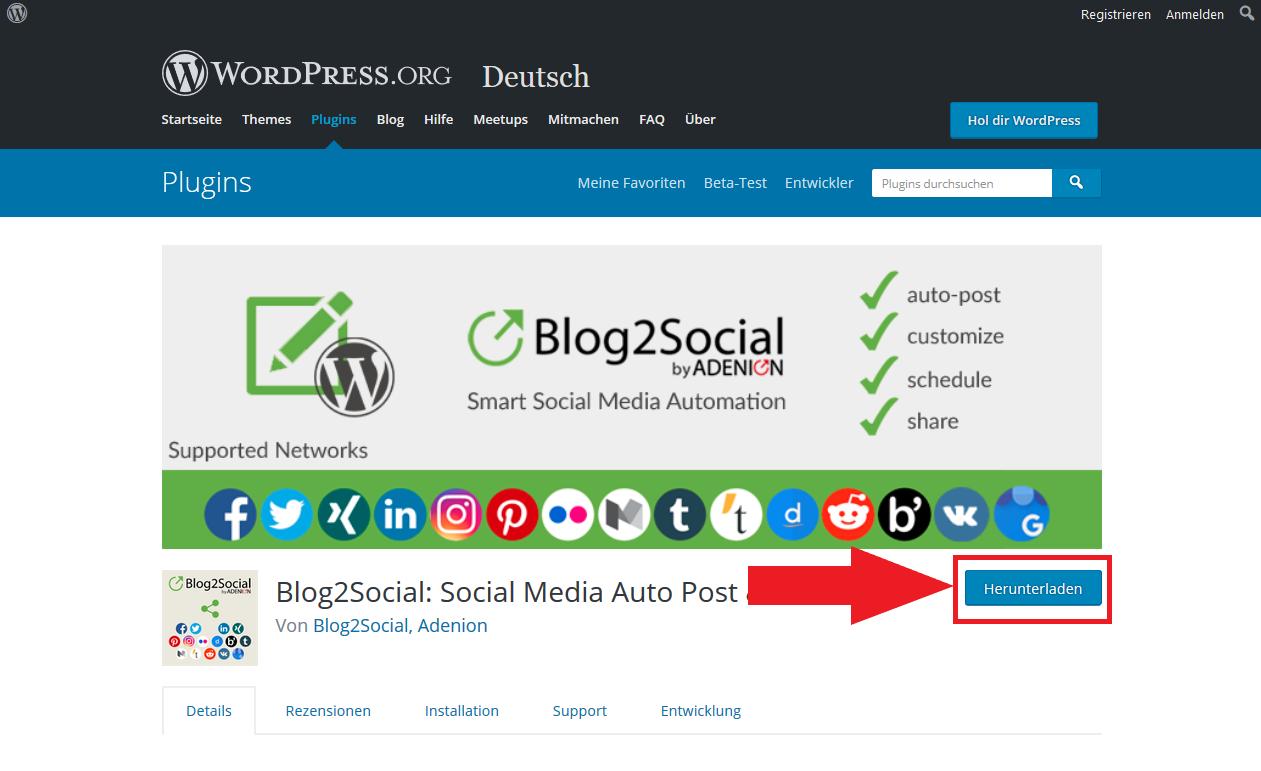 Blog2Social Download