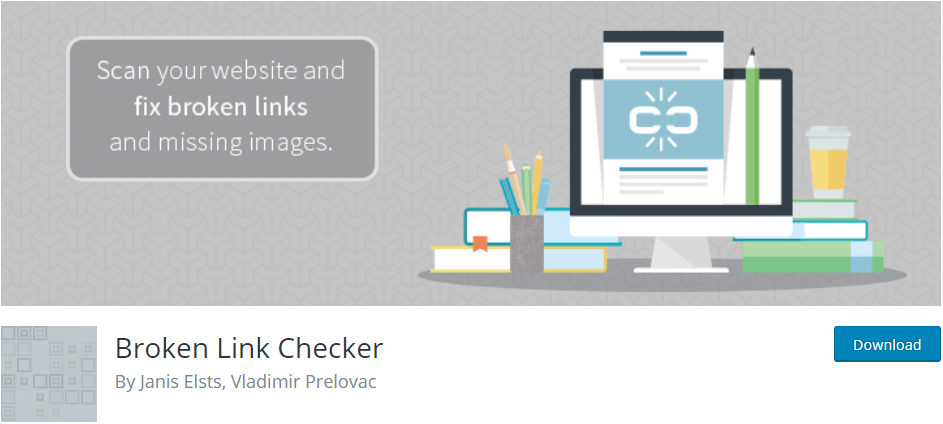 Wordpress plugin Broken Link Checker to monitor and fix broken links in posts, pages and images