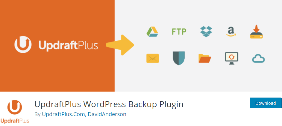 Updraft Plus WordPress Backup Plugin to backup and restore your data