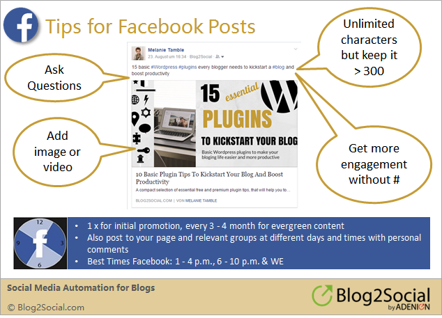 Social media sharing: How to share your blog post on Facebook