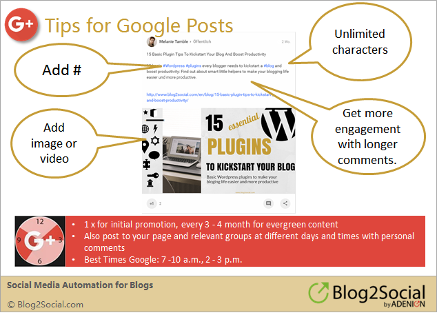 Tips for Google+ Posts