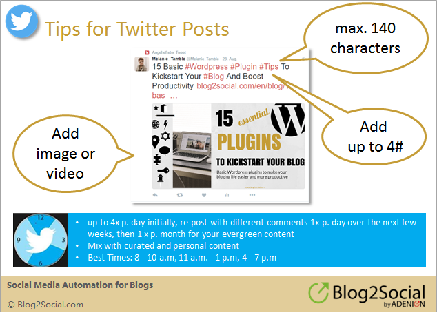 Social media sharing: How to share your blog post on Twitter