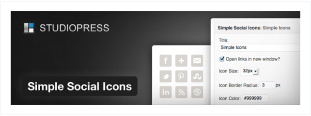simple social icons studiopress