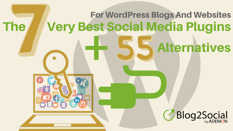 The 7 Very Best Social Media Plugins For WordPress Blogs and Websites in 2018 + 55 Alternatives