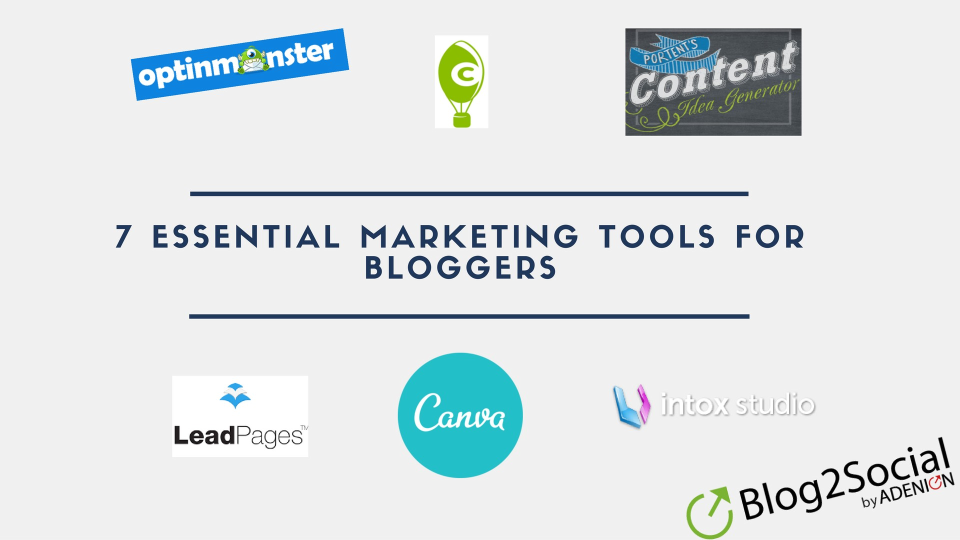 7 Essential Marketing Tools For Bloggers