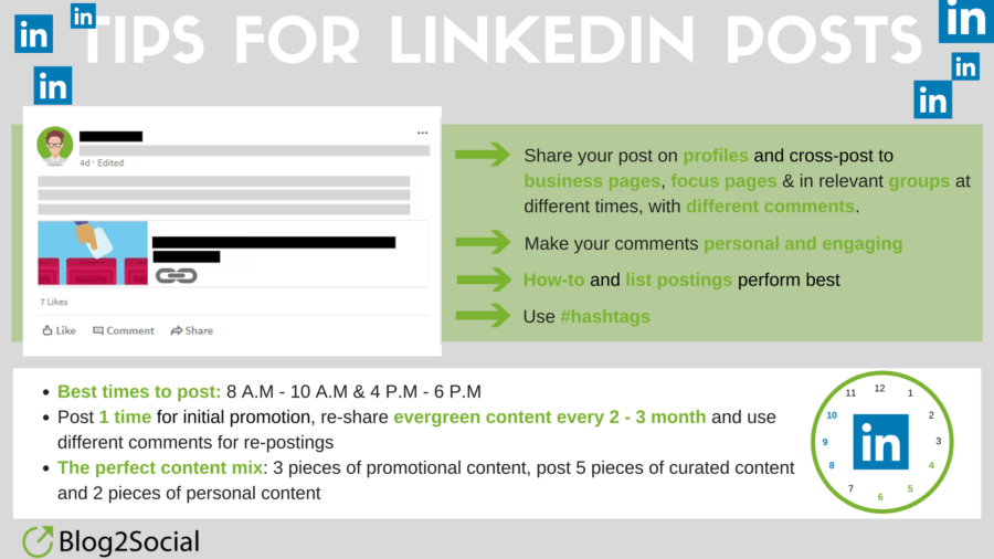 Tips for LinkedIn posts
