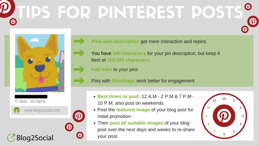 Tips for Pinterest posts