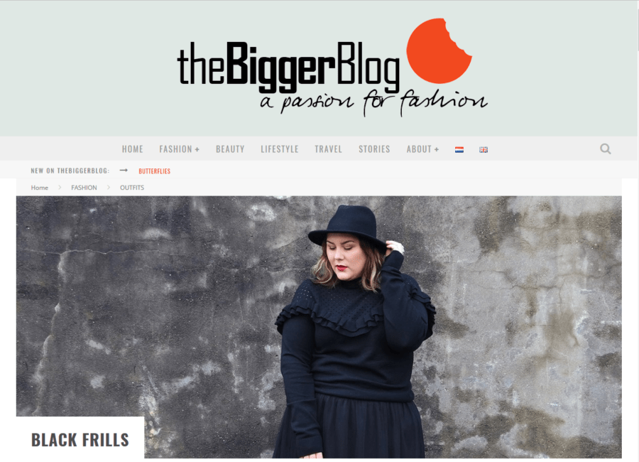 """Black Frills"" on the Fashion Blog theBiggerBlog"
