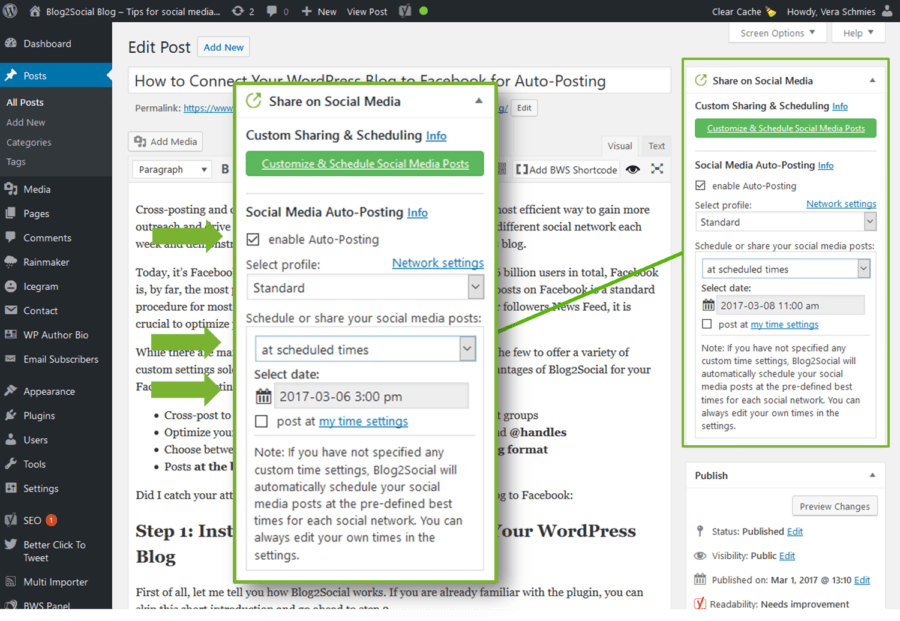 Auto-scheduling with Blog2Social