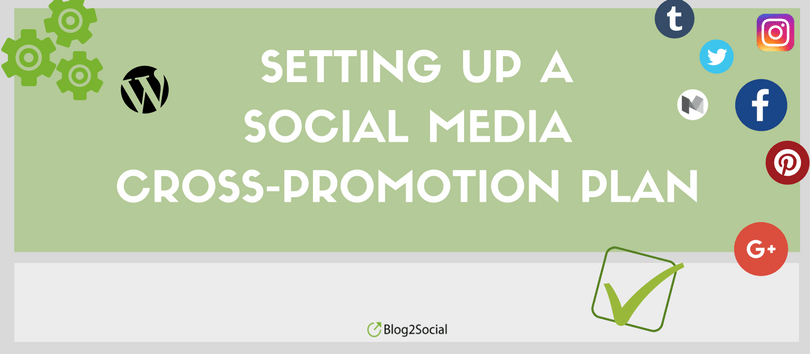 Setting up a social media cross-promotion plan