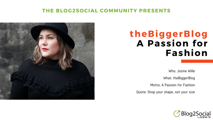 Josine Wille and The Bigger Blog - The Blog2Social Community