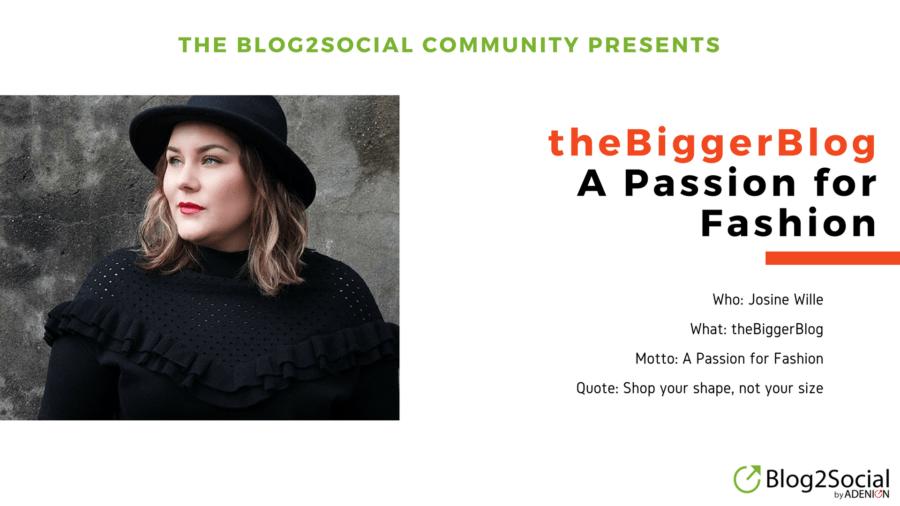 Josine Wille and The Bigger Blog - The Blog2Social Community