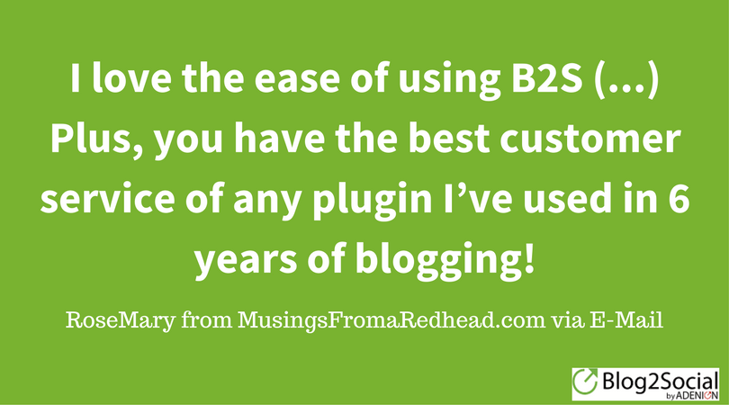 RoseMary from MusingsFromARedhead about Blog2Social