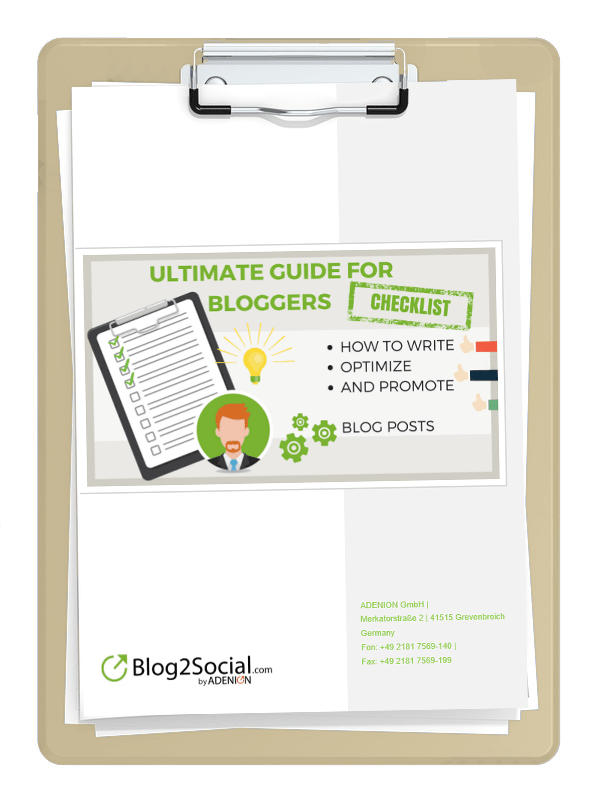 Download the Ultimate Guide for Bloggers' checklist