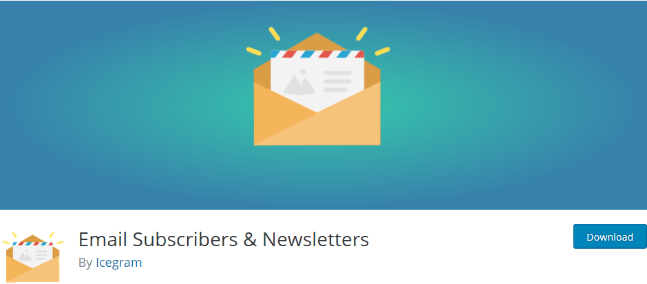 Wordpress plugin Email Subscribers & Newsletters: send automatic blog updates and newsletters to your subscribers