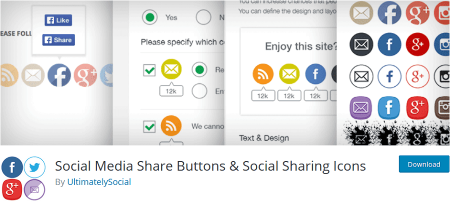 Ultimately Social Share Buttons