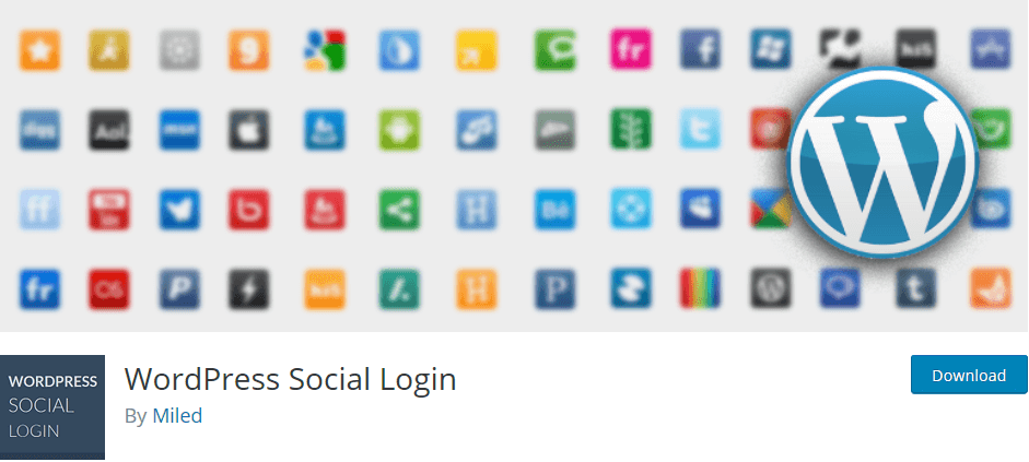 Wordpress Social Login lets your website visitors log-in and comment on using their social network credentials.