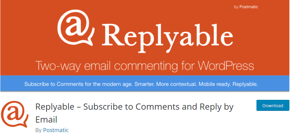 Wordpress plugin Replayable lets your readers subscribe to comments via email and directly reply by email.