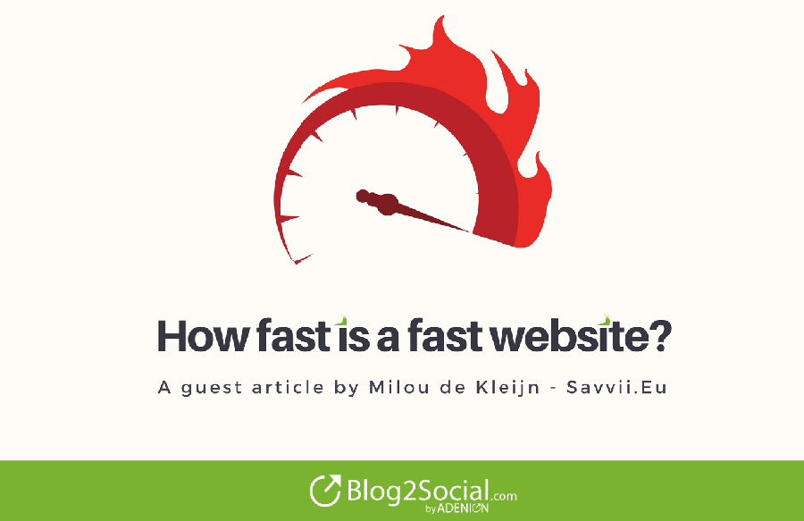How fast is a fast website? A guest article by Milou de Kleijn - Savvii.EU