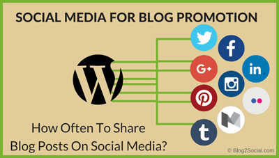 How often to share your blog posts on social media