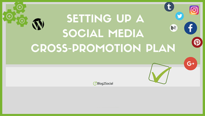 Infographic social media cross-promotion