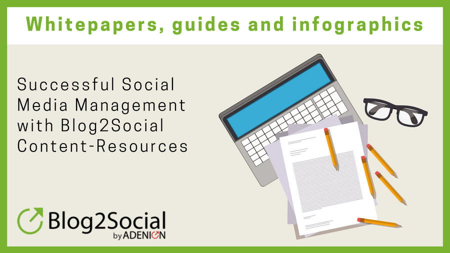 Successful Social Media Management with Blog2Social Content Resources