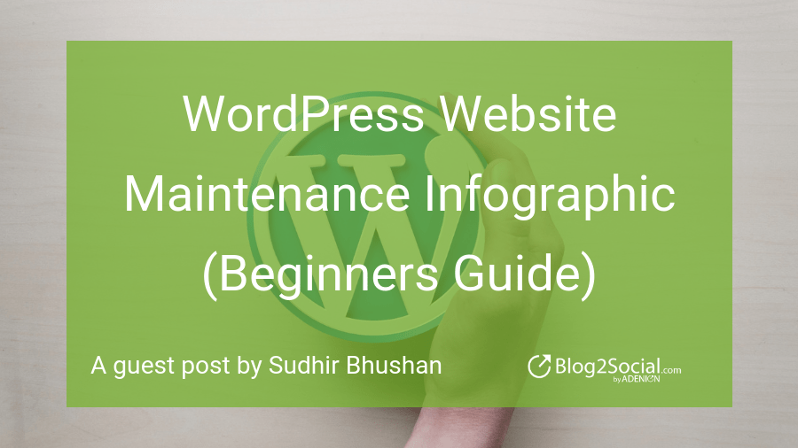 WordPress Website Maintenance Infographic