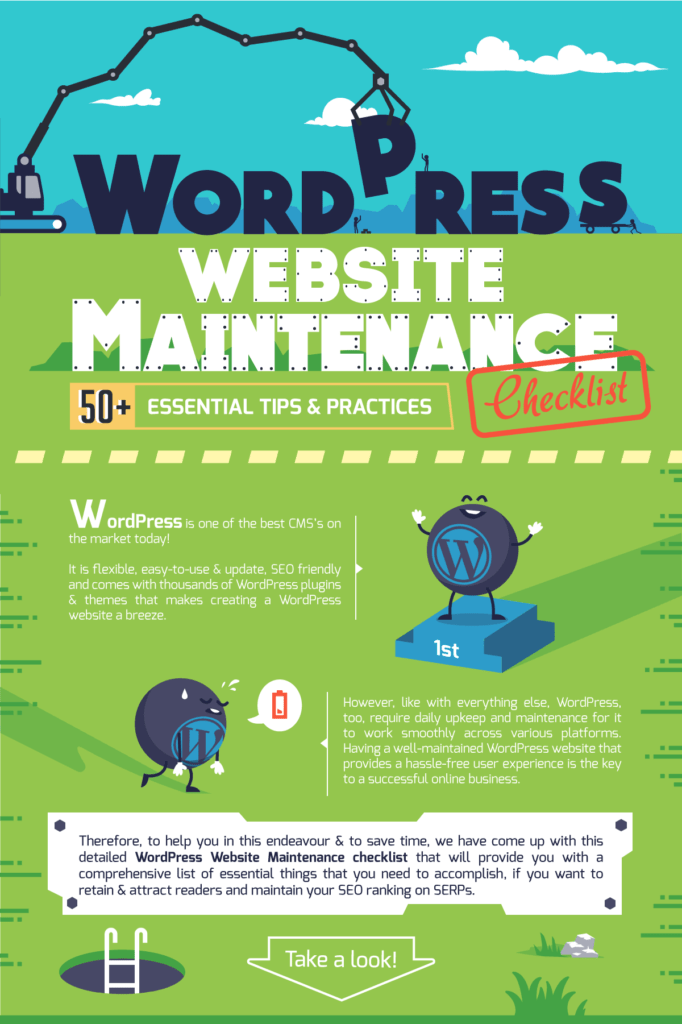 WordPress Website Maintenance Infographic: Part One