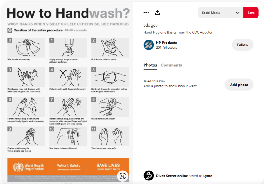 HP shares information on how to handwash from WHO