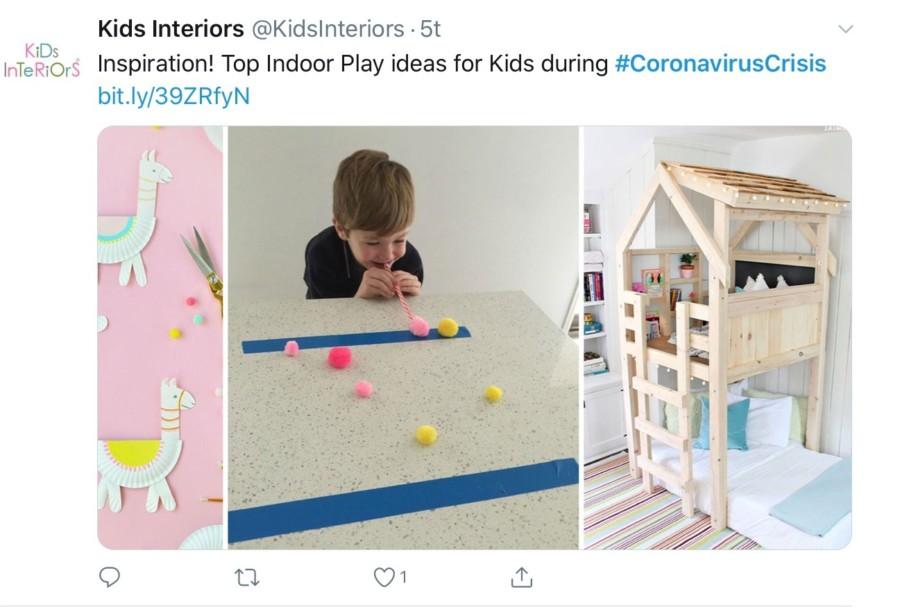 L'intérieur des enfants partage l'inspiration pour divertir les enfants avec des activités intérieures