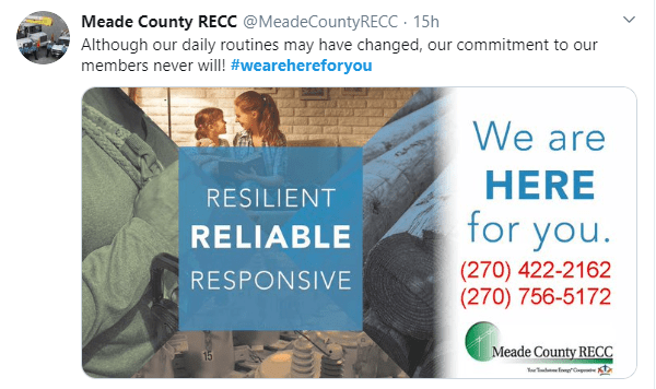 Meade Country RECC announces ongoing service #wearehereforyou