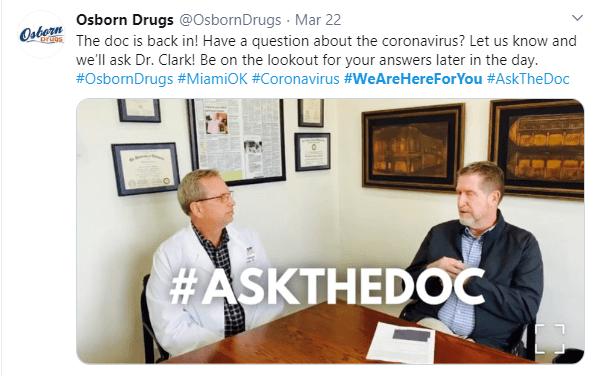 Osborn Drugs offre une séance de questions-réponses avec un médecin pour répondre aux questions sur le coronavirus