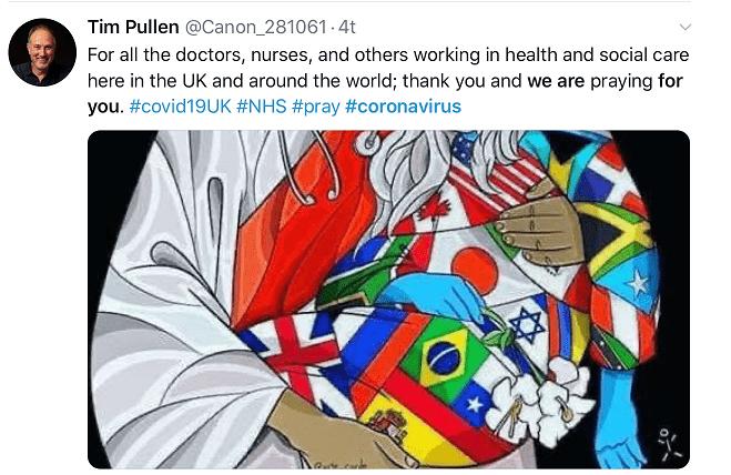 Tim Pullen de Canon remercie les personnes travaillant dans les services de santé et sociaux