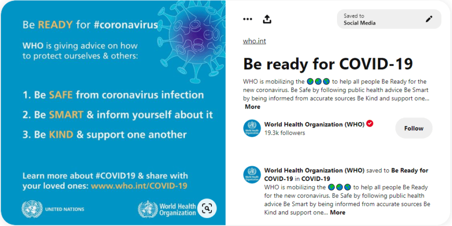 Conseils de l'OMS pour la protection contre le virus